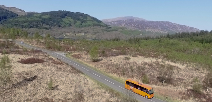 The Hairy Coo Tour Bus